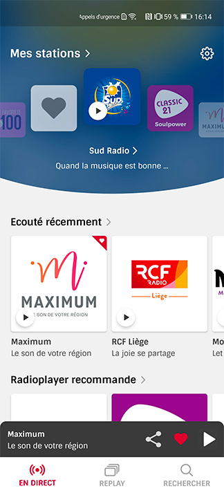Mes stations on Huawei