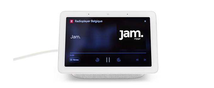 Jam sur Google Nest via Radiplayer Belgique